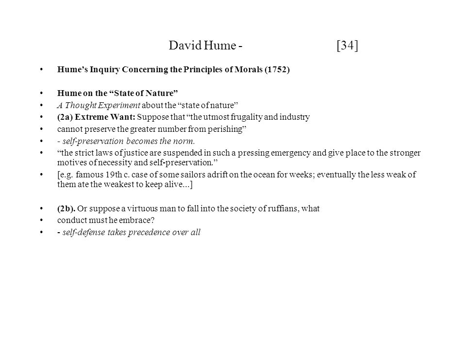 David Hume - [34] Hume's Inquiry Concerning the Principles of Morals (1752)
